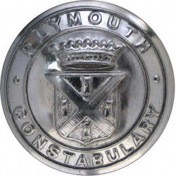 Indian Police 20mm - Pre-1947 with King's Crown. Silver-plated Police or Prisons uniform button