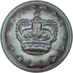 Exeter City Police 24mm with Queen Elizabeth's Crown. Chrome-plated Police or Prisons uniform button