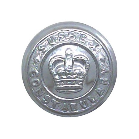Cumberland And Westmorland Constabulary (Rose Centre 24.5mm - Pre-1963 Chrome-plated Police or Prisons uniform button
