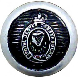 Royal Ulster Constabulary GC - Black 14.5mm - Post-1952 with Queen Elizabeth's Crown. Anodised Police or Prisons uniform button