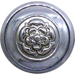 North Wales Police 23.5mm - Post-1974 with Queen Elizabeth's Crown. Chrome-plated Police or Prisons uniform button