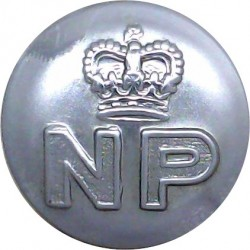 Nigerian Police 23mm - 1952-1960 with Queen Elizabeth's Crown. Chrome-plated Police or Prisons uniform button