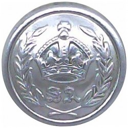 Australia: South Australia Police Force 16.5mm with King's Crown. Chrome-plated Police or Prisons uniform button
