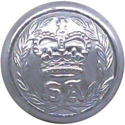 Australia: South Australia Police Force 16.5mm with Queen Elizabeth's Crown. Chrome-plated Police or Prisons uniform button