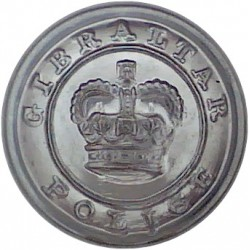 Cyprus Police 22mm -1952-1960 with Queen Elizabeth's Crown. Chrome-plated Police or Prisons uniform button