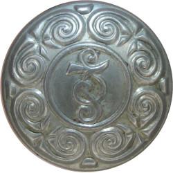 Garda Siochana (Irish Police) 16.5mm  White Metal Police or Prisons uniform button