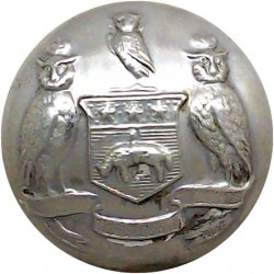 British Colonial Prison Service - CPS 17mm King's Crown. Chrome-plated Police or Prisons uniform button