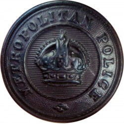 Uganda Police - GviR 13.5mm - 1936-1952 with King's Crown. Chrome-plated Police or Prisons uniform button