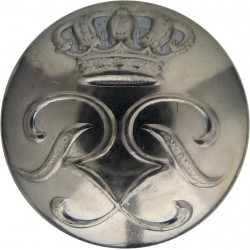 Monaco Police (Prince Rainier III Cipher) 21.5mm - 1949-2005  Chrome-plated Police or Prisons uniform button
