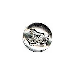 Cyprus Police 16mm - Pre-1952 with King's Crown. White Metal Police or Prisons uniform button