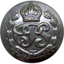 British Colonial Police Service - CPS 17mm with King's Crown. Chrome-plated Police or Prisons uniform button