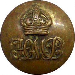 Bristol City Constabulary 17mm - 1952-1967 with Queen Elizabeth's Crown. Chrome-plated Police or Prisons uniform button