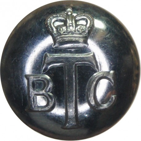 Lincoln City Police 17.5mm - 1952-1967 with Queen Elizabeth's Crown. Chrome-plated Police or Prisons uniform button