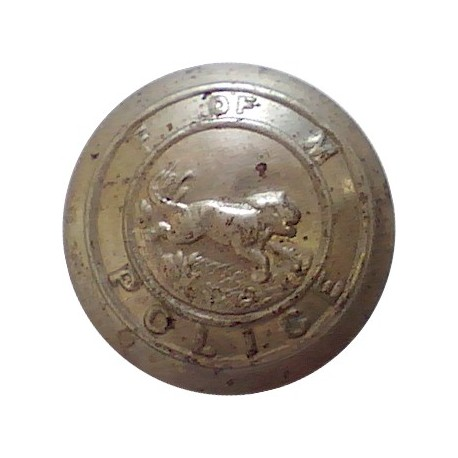 York City Police 17.5mm - 1952-1968 with Queen Elizabeth's Crown. Chrome-plated Police or Prisons uniform button