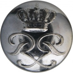 North Riding Of Yorkshire Constabulary 17.5mm - Pre-1952 with King's Crown. Chrome-plated Police or Prisons uniform button