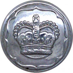 Newcastle-Upon-Tyne City Police 20.5mm - Pre-1952 with King's Crown. Chrome-plated Police or Prisons uniform button