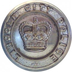 Kent Constabulary 17.5mm - Pre-1952 with King's Crown. Chrome-plated Police or Prisons uniform button