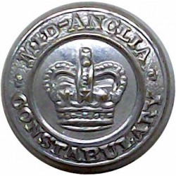 Hertfordshire Constabulary 17.5mm - Post-1952 with Queen Elizabeth's Crown. Chrome-plated Police or Prisons uniform button