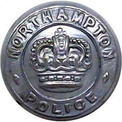 East Suffolk Police 17.5mm - 1952-1967 with Queen Elizabeth's Crown. Chrome-plated Police or Prisons uniform button