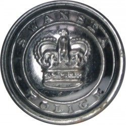Essex Constabulary 18mm - Pre-1952 with King's Crown. Chrome-plated Police or Prisons uniform button