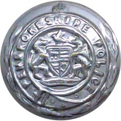 Lancashire Constabulary - Black 17.5mm - Post-1952 with Queen Elizabeth's Crown. Plastic Police or Prisons uniform button