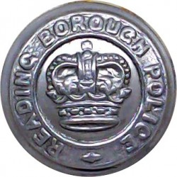 Reading Borough Police 17.5mm - 1952-1968 with Queen Elizabeth's Crown. Chrome-plated Police or Prisons uniform button