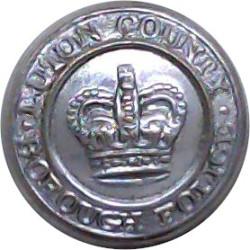 British Transport Police 25mm - Black with Queen Elizabeth's Crown. Horn Police or Prisons uniform button