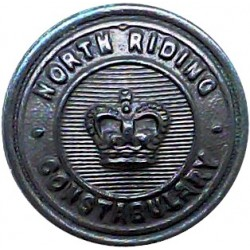 Berkshire Constabulary - Black 24.5mm - Pre-1952 with King's Crown. Horn Police or Prisons uniform button