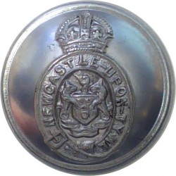 Berkshire Constabulary - Black 24.5mm - 1952-1968 with Queen Elizabeth's Crown. Horn Police or Prisons uniform button