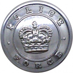 Staffordshire County Police - Black 24mm - 1968-1974 with Queen Elizabeth's Crown. Horn Police or Prisons uniform button