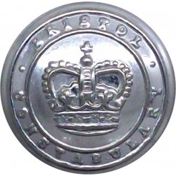 Wakefield City Police - Black 17.5mm - 1952-1968 with Queen Elizabeth's Crown. Horn Police or Prisons uniform button