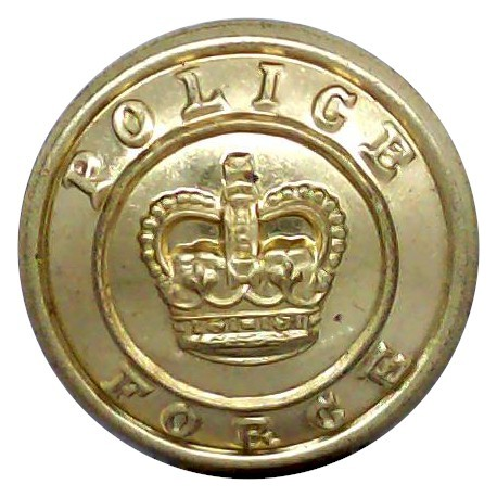 West Riding Of Yorkshire Constabulary 19.5mm - Pre-1968  Chrome-plated Police or Prisons uniform button
