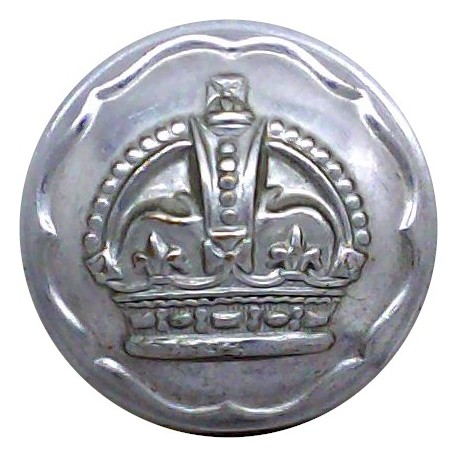 South Wales Constabulary 19mm - Post-1969 with Queen Elizabeth's Crown. Chrome-plated Police or Prisons uniform button