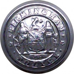 Bedfordshire Police 17mm - Post-1974 with Queen Elizabeth's Crown. Chrome-plated Police or Prisons uniform button