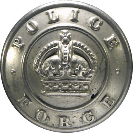 Staffordshire County Police 17.5mm - 1968-1974 with Queen Elizabeth's Crown. Chrome-plated Police or Prisons uniform button