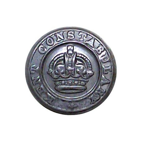 Gwynedd Constabulary (Wales) 17mm - 1952-1974 with Queen Elizabeth's Crown. Chrome-plated Police or Prisons uniform button