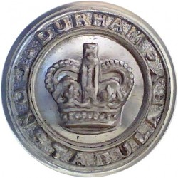 Devon Constabulary 17mm - Pre-1952 with King's Crown. Chrome-plated Police or Prisons uniform button