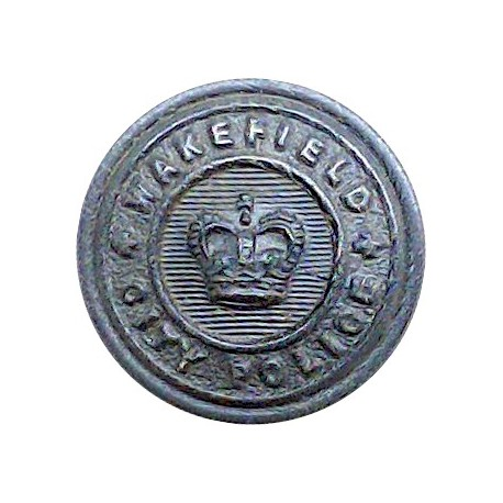 Birmingham City Police 24.5mm - Pre-1974  White Metal Police or Prisons uniform button