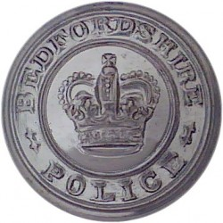 Hertfordshire Constabulary - Black 25mm - Post-1952 with Queen Elizabeth's Crown. Horn Police or Prisons uniform button