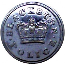 Blackburn County Borough Police 16.5mm - 1952-1969 with Queen Elizabeth's Crown. Chrome-plated Police or Prisons uniform button