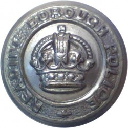 Special Constabulary (London Metropolitan) 19mm - Black with Queen Elizabeth's Crown. Horn Police or Prisons uniform button