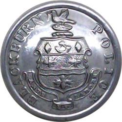 Blackburn County Borough Police 25.5mm  Chrome-plated Police or Prisons uniform button