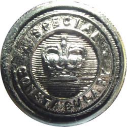 Special Constabulary (London Metropolitan) 19mm - Black with Queen Elizabeth's Crown. Horn Police or Prisons uniform button
