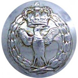 Teesside Constabulary 17mm - 1968-1974 with Queen Elizabeth's Crown. Chrome-plated Police or Prisons uniform button