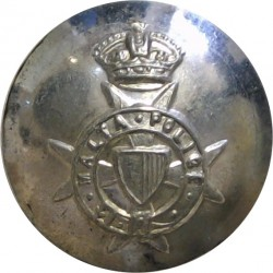Malta Police (Maltese Cross) 17.5mm with King's Crown. Silver-plated Police or Prisons uniform button