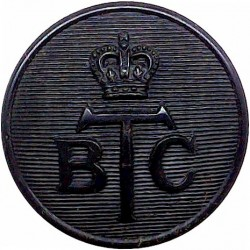Australia: Commonwealth Police 16.5mm - Pre-1979 Queen's Crown. Chrome-plated Police or Prisons uniform button
