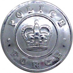 Sovereign Base Area Police (British Military Cyprus) 20.5mm with Queen Elizabeth's Crown. Chrome-plated Police or Prisons unifor