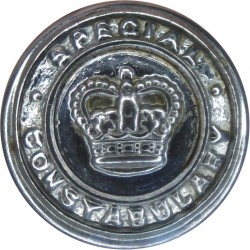 Hertfordshire Constabulary - Black 17.5mm - Post-1952 with King's Crown. Horn Police or Prisons uniform button