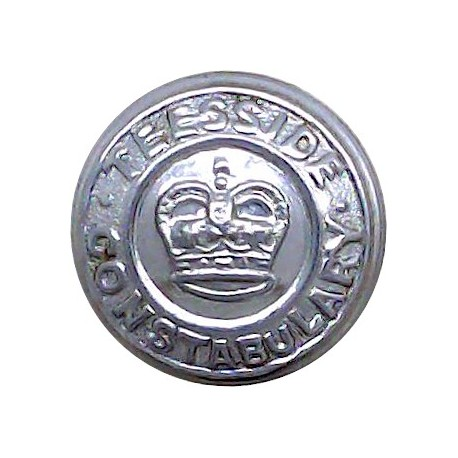Northamptonshire Constabulary 24.5mm - 1952-1966 with Queen Elizabeth's Crown. Chrome-plated Police or Prisons uniform button