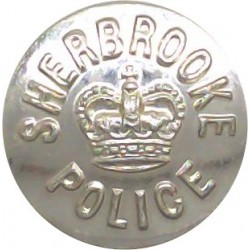 British Transport Police 25mm - Silver with Queen Elizabeth's Crown. Plastic Police or Prisons uniform button